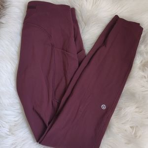 Maroon Lululemon leggings